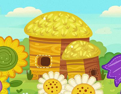 Background illustrations for childern`s game