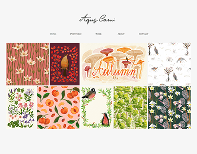 Agus Cami - Personal Website Design