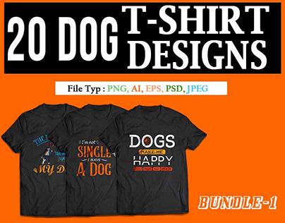 20 DOG T-SHIRT DESIGN BUNDLE-1