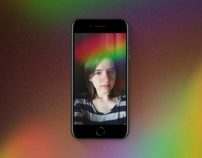 Instagram/Facebook Filter Rainbow Light Leak