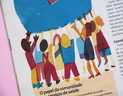 Ilustração editorial — Revista Viva Saúde