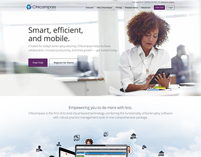 Cincompass WordPress Website