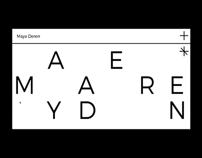 WEB | Maya Deren