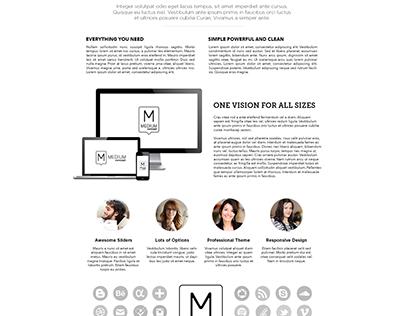 Medium Wordpress Theme Web Design