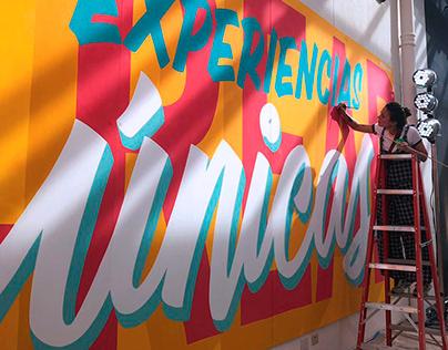 CREAR EXPERIENCIAS ÚNICAS Mural / Visa