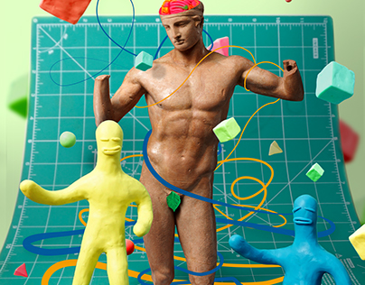 collage with plasticine for Newsweek polska