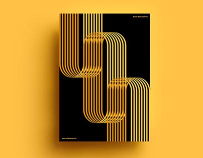 Poster by Xavier Esclusa Trias / Gold Lines