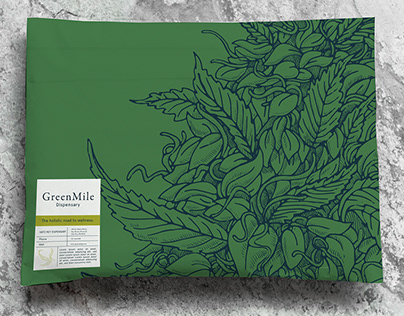 GreenMile CannabisDispensary, an Illustrated Brand