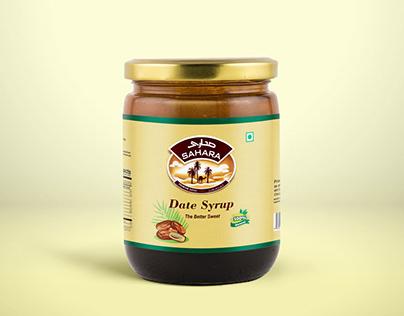 Free Dates Syrup Jam Jar Mockup PSD