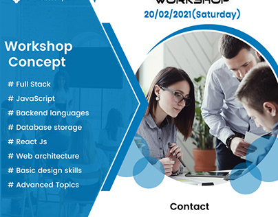 Free workshop on 20/02/2021 Full-stack development