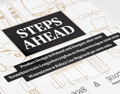 STEPS AHEAD — graphic design of the exhibition