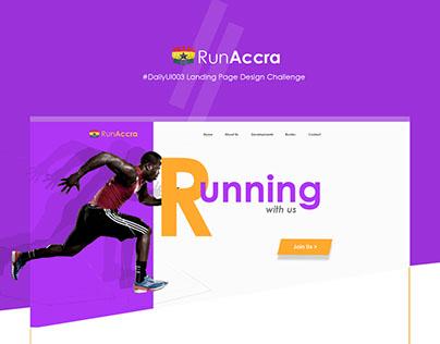 RunAccra Landing Page Design
