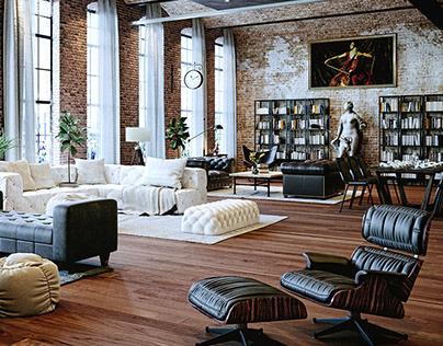 3d renderings of a loft