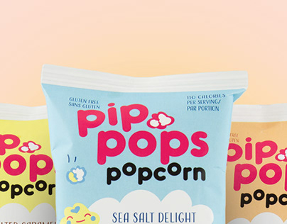Pip Pops Popcorn Packaging
