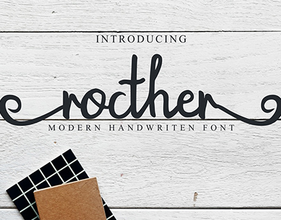Free Rocther Script Font