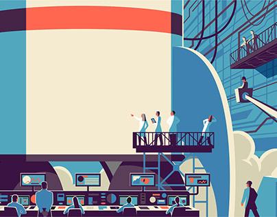 Illustrations for Rocket Mortgage