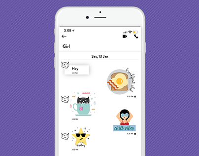 In-app Stickers for Flochat messenger