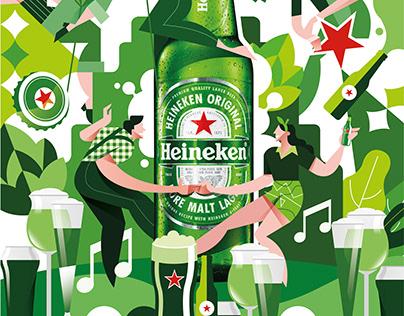 Heineken Illustration