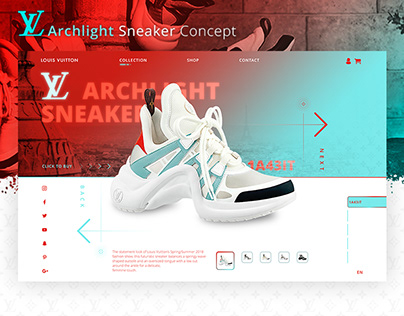 Louis Vuitton Sneakers Landing Page Concept