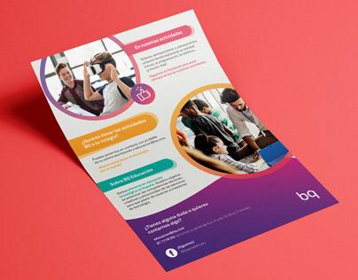 Offline - Flyer A5 - BQ Educación