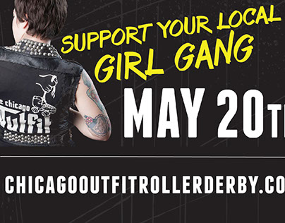 Chicago Outfit Roller Derby Billboards