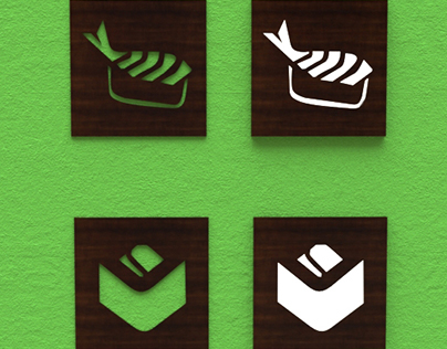 Design of wall decor for sushi restaurant