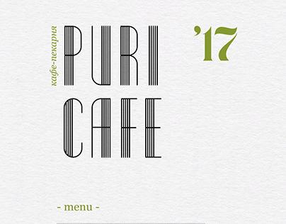 Puri Cafe Menu
