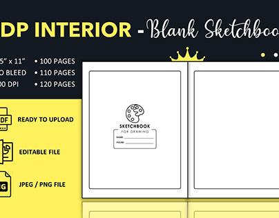 Blank Sketchbook / Notebook - KDP Interior Template