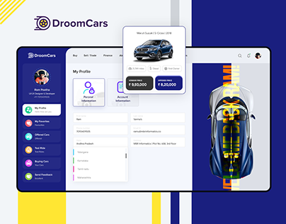 Droom Cars | User Dashboard | UI/UX Design