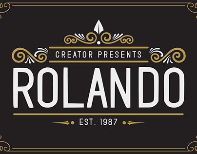 (FREEBIE FONT) Rolando Vintage