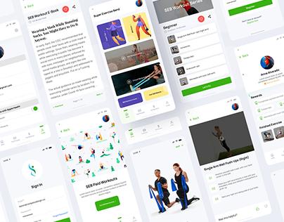 Fitness / Workout Mobile App UI Design