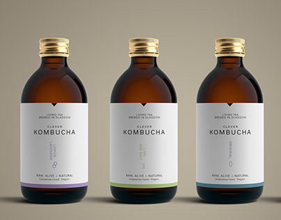 Clever Kombucha Packaging Visuals