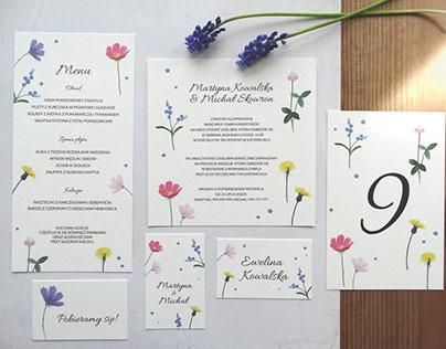 FLOWERS - WEDDING STATIONERY DESIGN