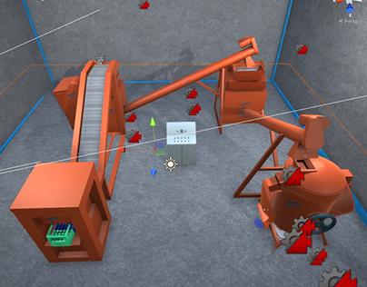 3d Render of industrial machine.