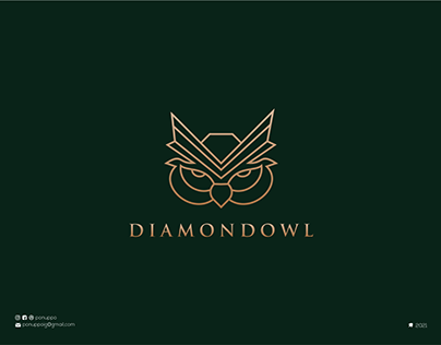 Line Art Diamond Logo
