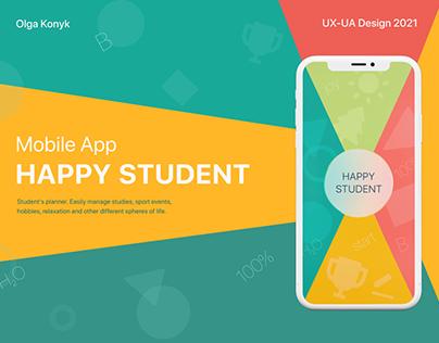 mobile app HAPPY STUDENT
