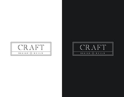 Craft logo concept for woodworks