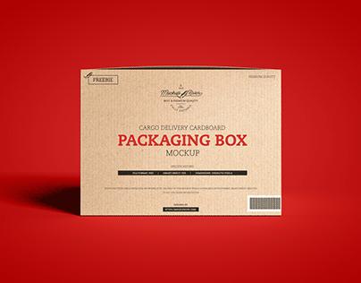 Free Cardboard Packaging Box Mockup