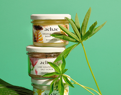 Achae natural cosmetics branding