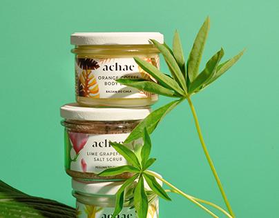 Achae natural cosmetics branding