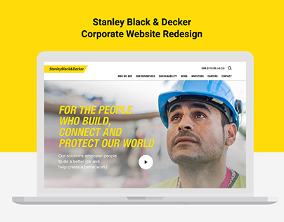 Stanley Black & Decker Corporate Website Redesign