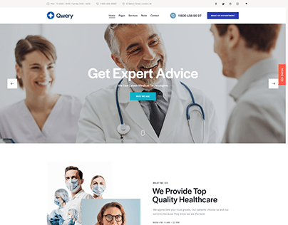 Qwery - Multi-Purpose Business WP Theme: Medical