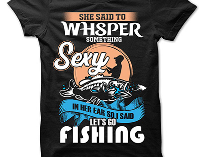 Custom Fishing T-shirt Design