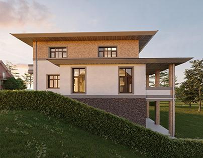American house near Lviv