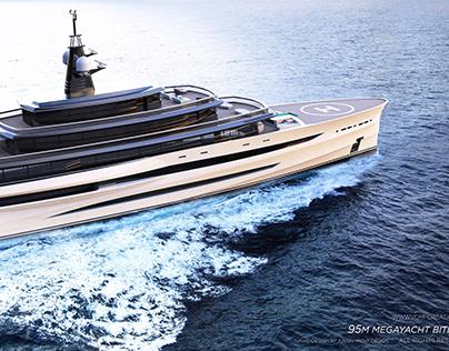 95M Megayacht BITER CONCEPt designed by VOM Creations