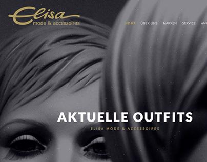 elisa mode & accessoires webdesign