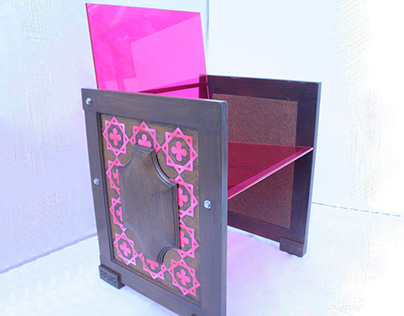ACRIDOO acrylic and wooden doors armchair