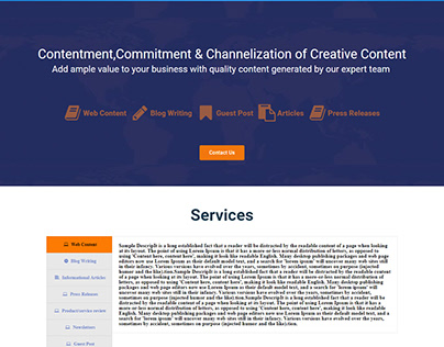Content writing service website
