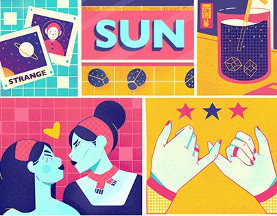 Comic Strip - Sun