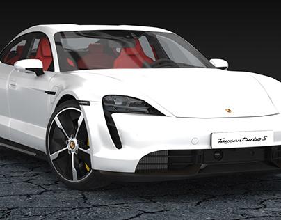 Porsche Taycan Turbo S 3D Model on Turbosquid